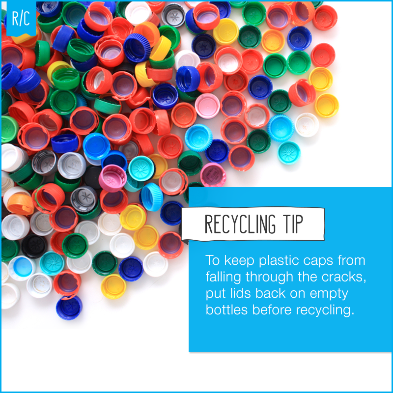 Recycling Plastic Bottles Caps On Or Off