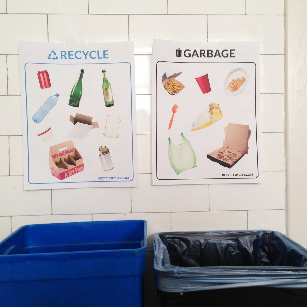 Chicago Recycling Signs